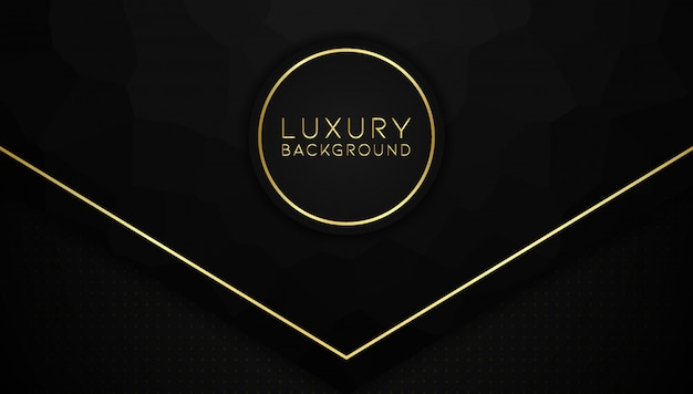 Moderno plano de fundo texturizado abstrato com sotaque de ouro Vetor Premium