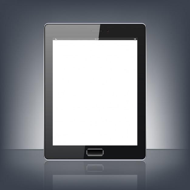 Moderno tablet digital pc isolado no fundo preto Vetor Premium