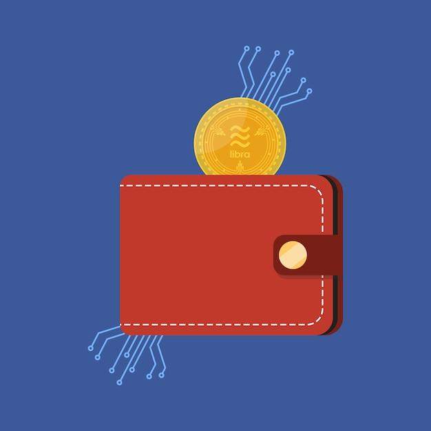 Moeda de dinheiro de libra com carteira Vetor Premium