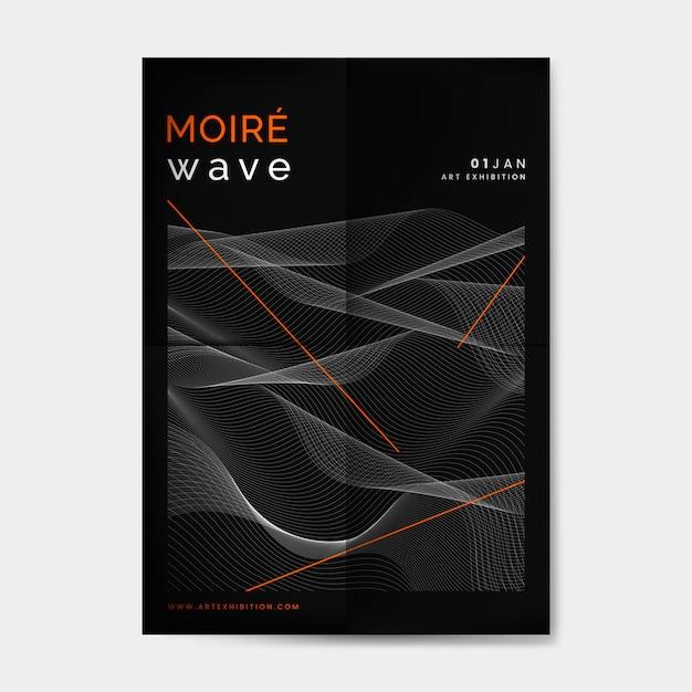 Moiré, padrão, fundo Vetor grátis