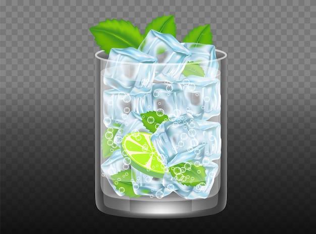 Mojito cocktail vector ilustração realista Vetor Premium