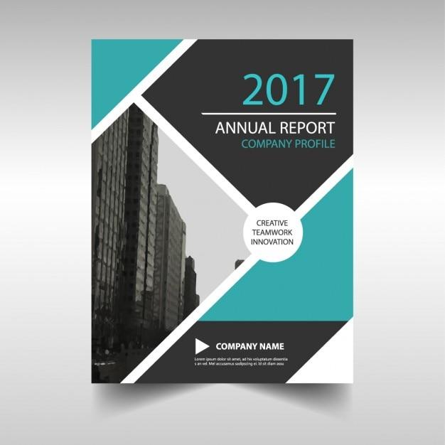 Molde abstrato azul do projeto relatório anual Vetor grátis
