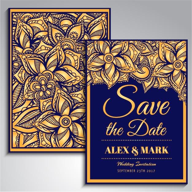 Molde do convite do casamento Vetor grátis