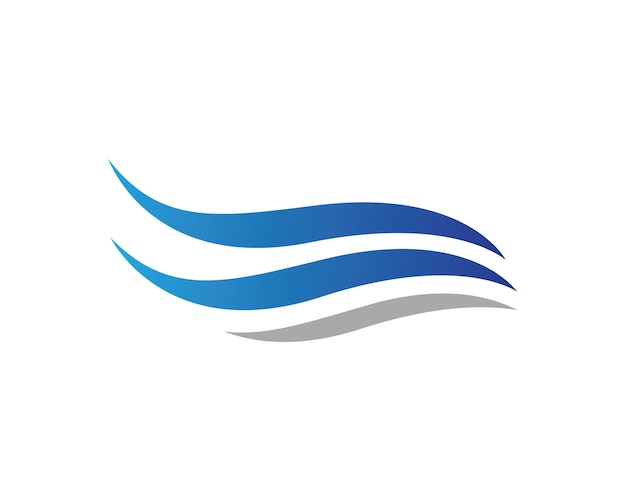 Molde do logotipo da onda da água Vetor Premium