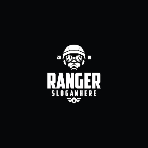 Molde do logotipo dos esports do soldado Vetor Premium