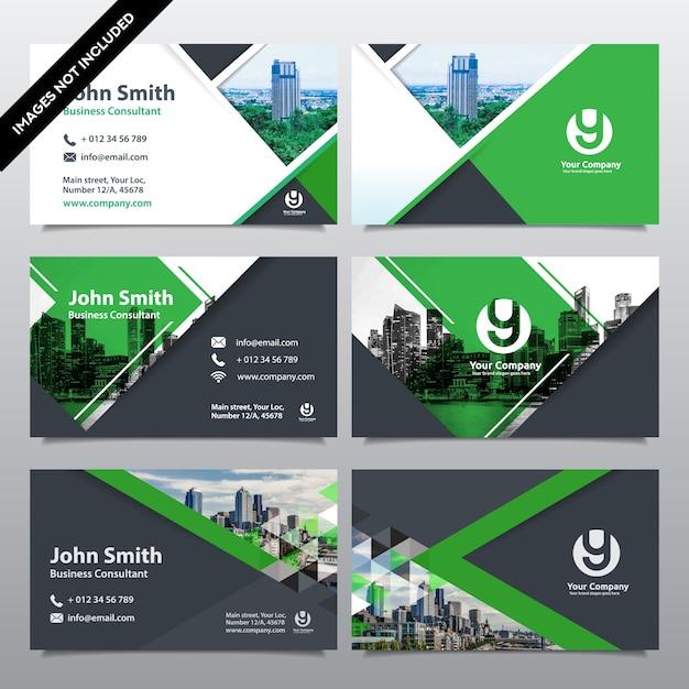 Molde do projeto do cartão de visita do fundo da cidade. pode ser adaptado ao brochure, relatório anual, revista, cartaz, apresentação corporativa, portfolio, flyer, website Vetor Premium