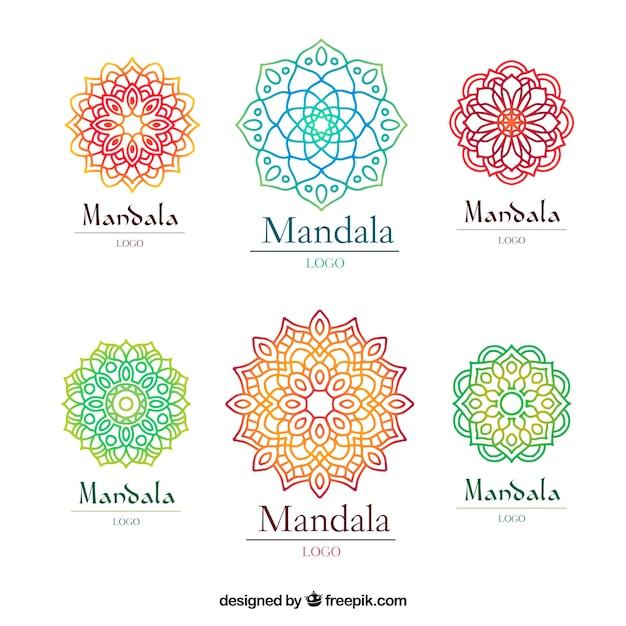 Molde Multicolor Do Logotipo Da Mandala Baixar Vetores Grátis