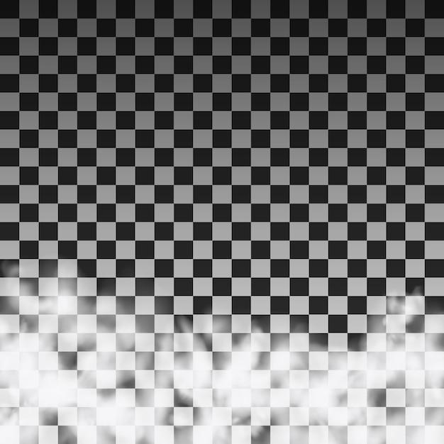 Molde translúcido da nuvem de fumo em um fundo transparente. ilustração vetorial Vetor Premium