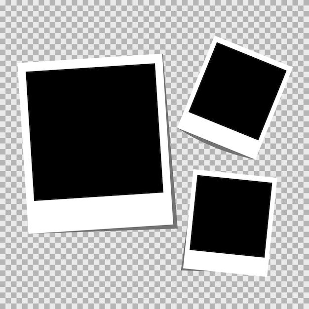 Moldura de foto de qualidade hiqh. Vetor Premium