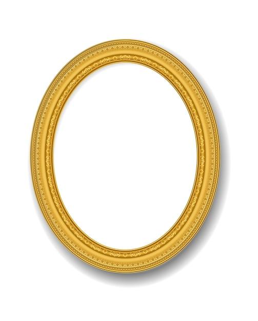 Moldura de ouro vintage Vetor Premium