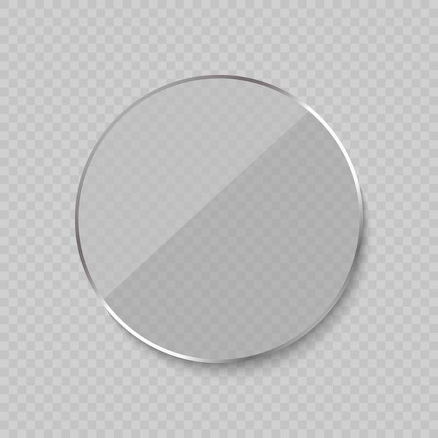 Moldura de vidro brilhante Vetor Premium