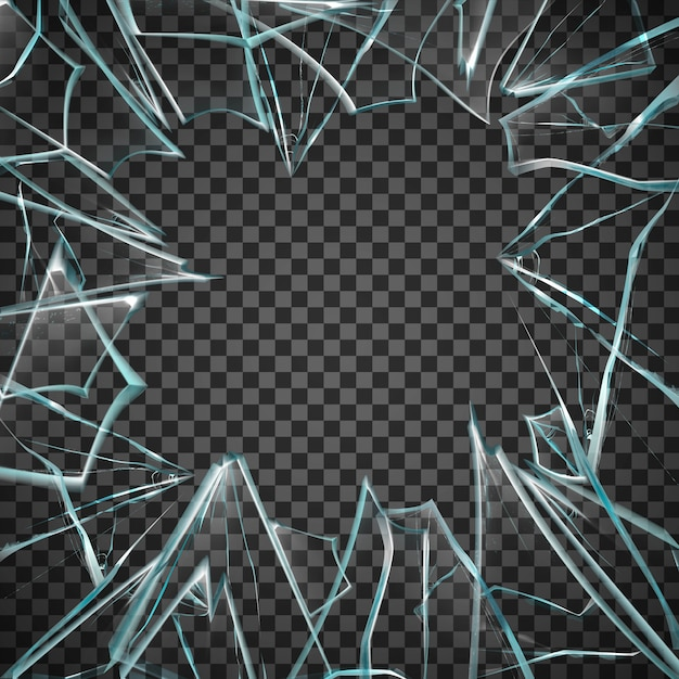 Moldura de vidro quebrado Vetor grátis