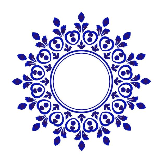 Moldura decorativa de porcelana Vetor Premium
