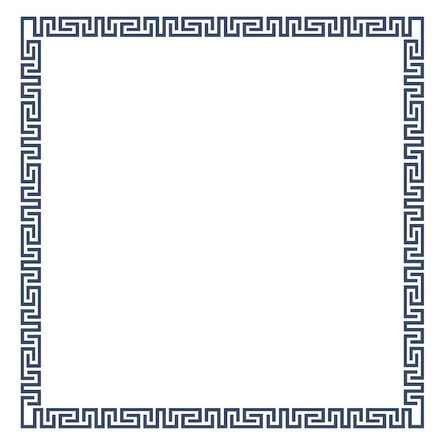 Moldura decorativa para design em estilo grego Vetor Premium