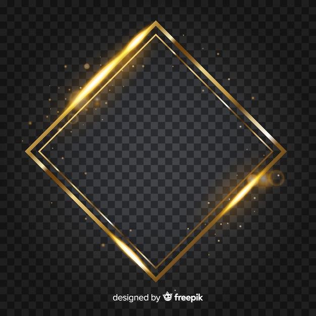 Moldura dourada de diamante Vetor grátis