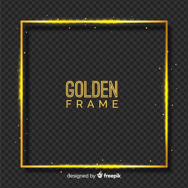 Moldura dourada em fundo transparente Vetor grátis