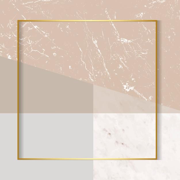Moldura dourada moderna Vetor grátis