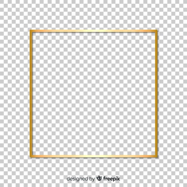 Moldura dourada realista quadrada Vetor grátis