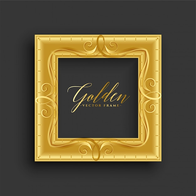 Moldura dourada vintage antiga Vetor grátis