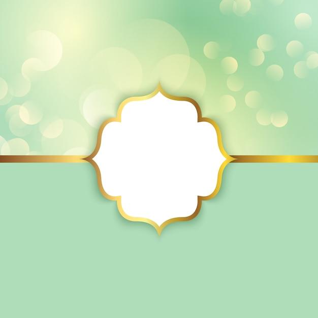 Moldura elegante em um fundo de luzes de bokeh Vetor grátis