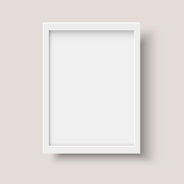 Moldura em branco vertical realista Vetor Premium