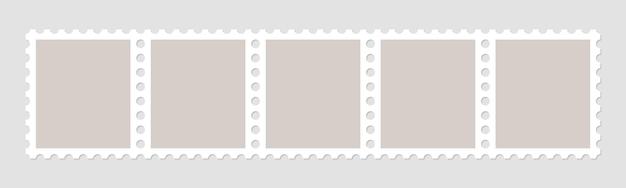 Molduras de selos para envelopes de correio. Vetor Premium