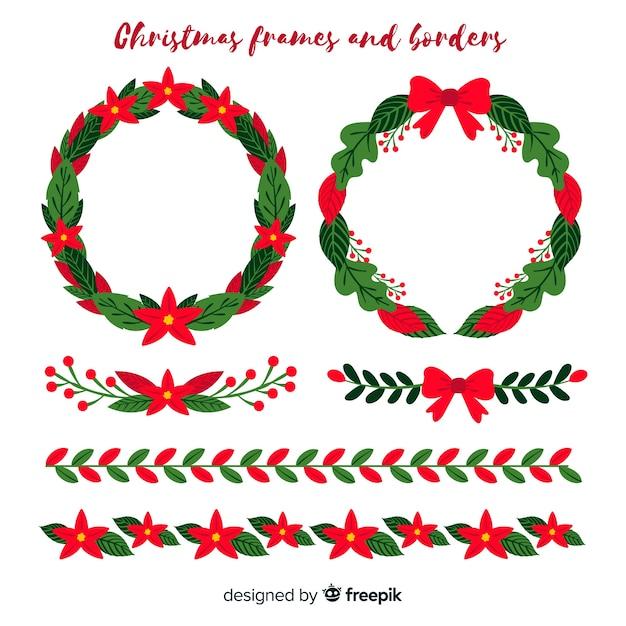 Molduras e bordas de Natal | Baixar vetores grátis