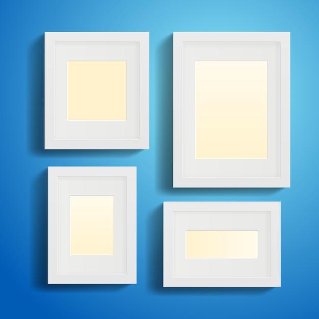 Molduras ou quadros modernos com sombras Vetor grátis
