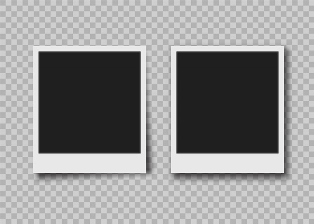 Molduras para fotos instantâneas Vetor Premium