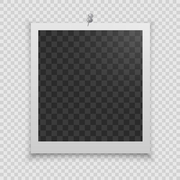 Molduras para fotos realistas Vetor Premium