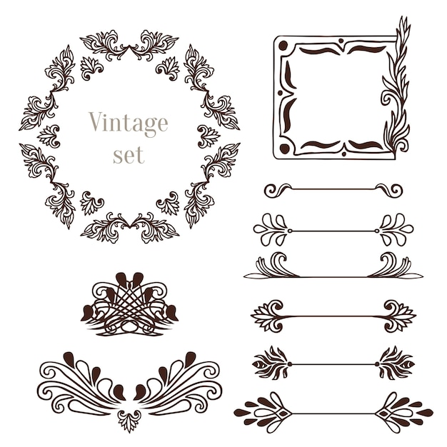 molduras vintage e elementos de borda cole u00e7 u00e3o de ornaments clip art free ornaments clipart black and white