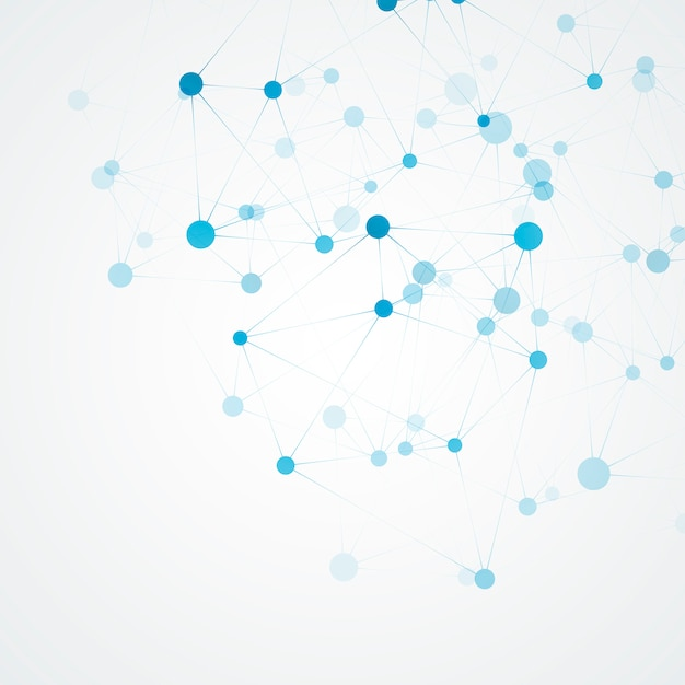 Molécula de ciência e estrutura de conexão. fundo abstrato Vetor Premium