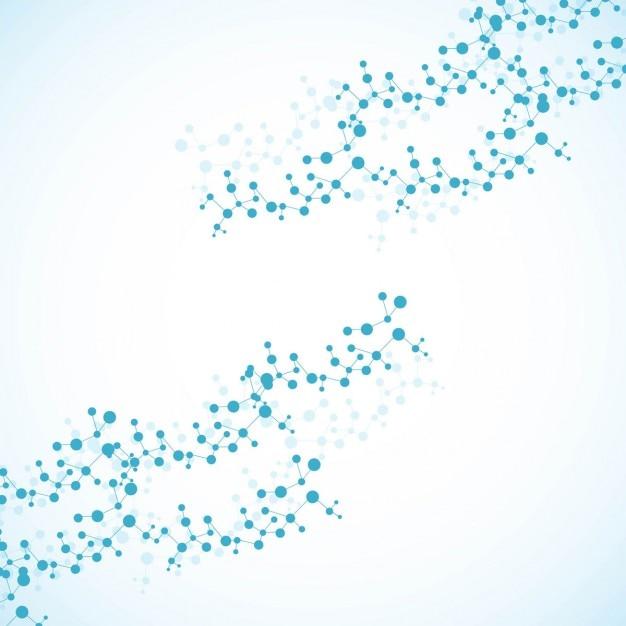 Moléculas de azul de fundo Vetor grátis