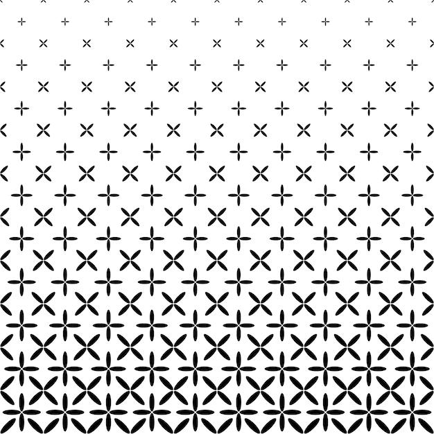 Monochrome abstract elipse pattern background - preto e branco gráfico de vetor geométrico Vetor grátis