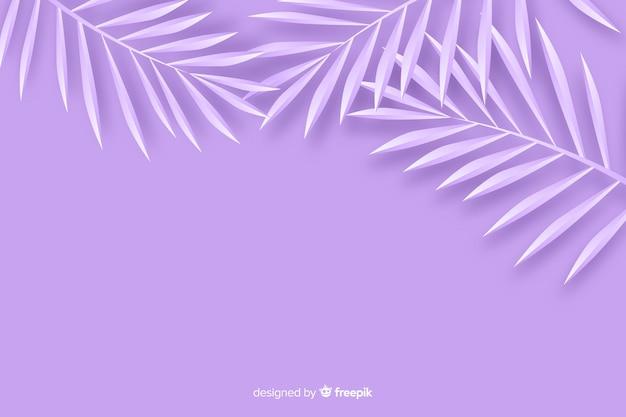 Monocromático deixa o fundo no estilo de papel em tons de violeta Vetor grátis