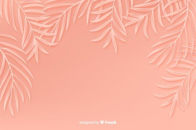 Monocromático deixa o fundo no estilo de papel Vetor grátis