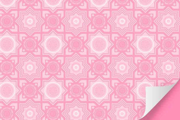 Monocromático padrão rosa pálido com formas Vetor Premium