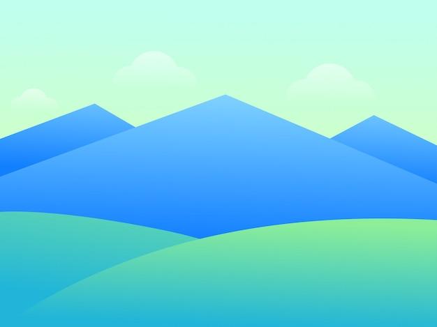 Montanha bela paisagem Vetor Premium