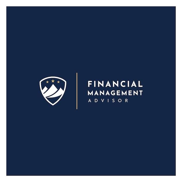 Montanha com logotipo financeiro de marketing de estatística Vetor Premium