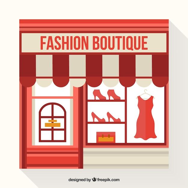 Montra do vintage da loja de moda vintage Vetor grátis
