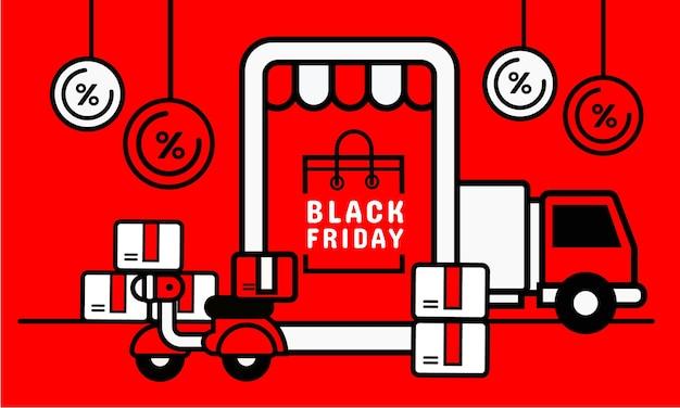 Montra em smartphone com serviço de delivery. conceito de compras online Vetor Premium