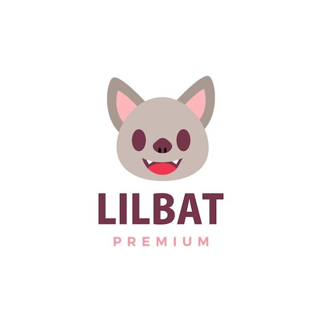 Morcego bonito logotipo icon ilustração Vetor Premium