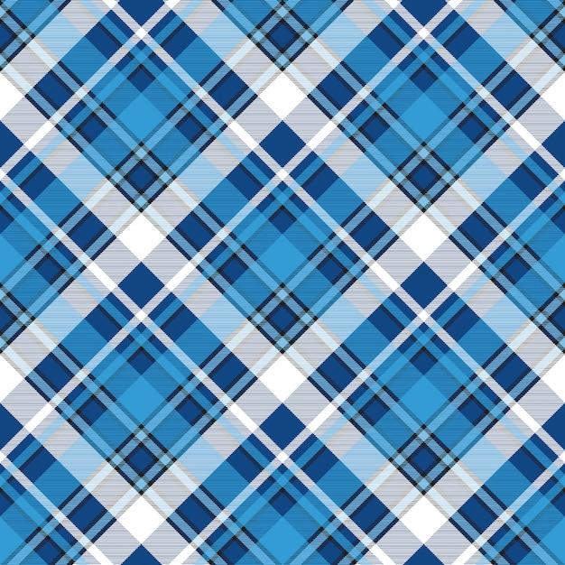 Moredn design blue plaid seamless pattern Vetor Premium