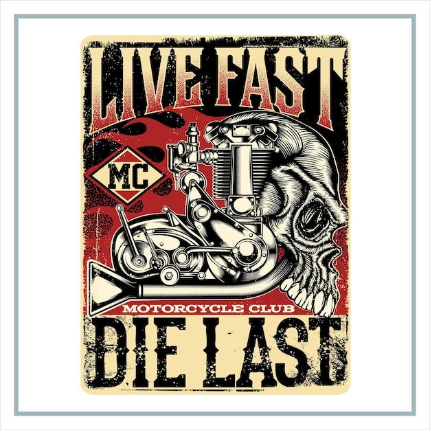 Morte rápida ao vivo por último Vetor Premium