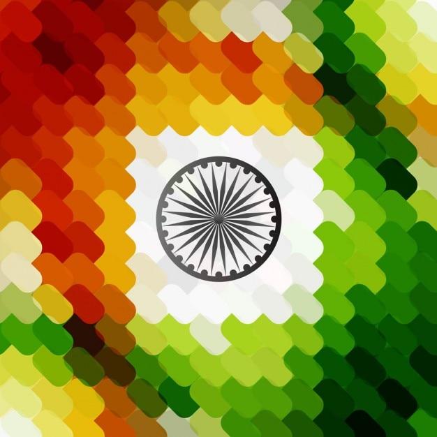 Mosaico com cores da bandeira indiana Vetor grátis