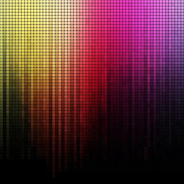 Mosaico quadrado cor do arco-íris de fundo Vetor Premium