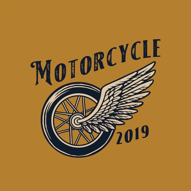 Motors vintage badge Vetor Premium