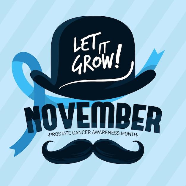 Movember design plano deixá-lo crescer fundo Vetor grátis