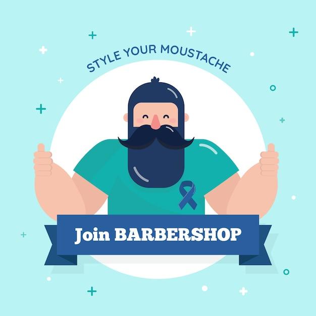 Movember em design plano Vetor grátis