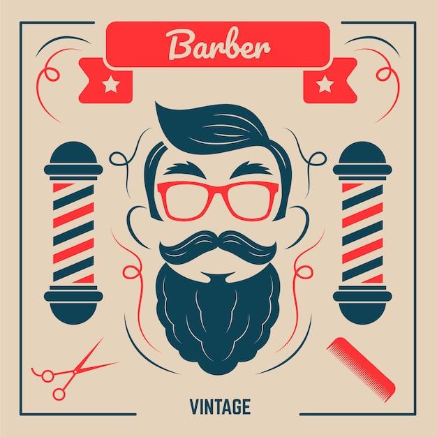 Movember em estilo vintage Vetor grátis